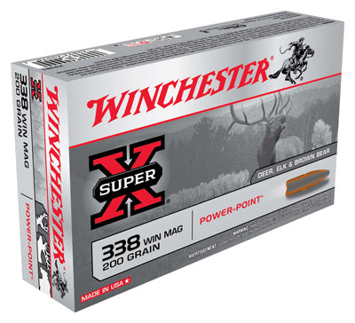 Winchester Ammo Super-X .338Wm 200gr. Power Point 20-Pack