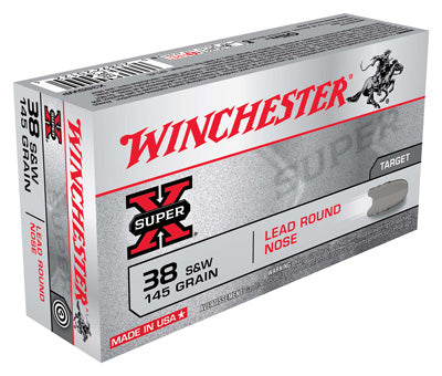 Winchester Ammo Super-X .38 S&W 145gr. Lead-RN50-Pack