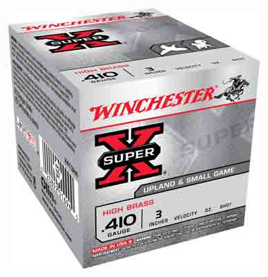 "Winchester Ammo Super-X .410 3"" 1100fps. 3/4oz. #4 25-Pack"
