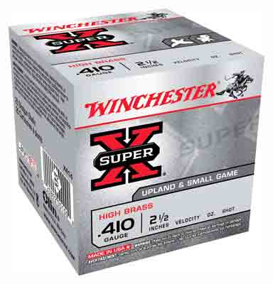 "Winchester Ammo Super-X .410 2.5"" 1245fps. 1/2oz. #4 25-Pack"