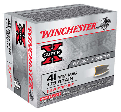 Winchester Ammo Super-X .41 Rem Mag 175gr. Silvertip HP 20-Pack