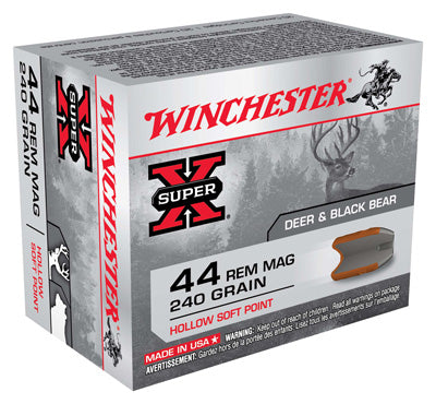 Winchester Ammo Super-X .44 Rem Mag 240gr. Hollow Soft Point 20-Pack