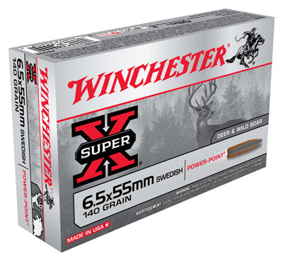 Winchester Ammo Super-X 6.5X55 Swedish 140gr. Power Point 20P
