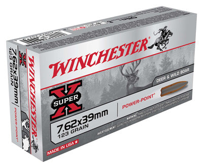 Winchester Ammo Super-X 7.62X39 123gr. Power Point 20-Pack