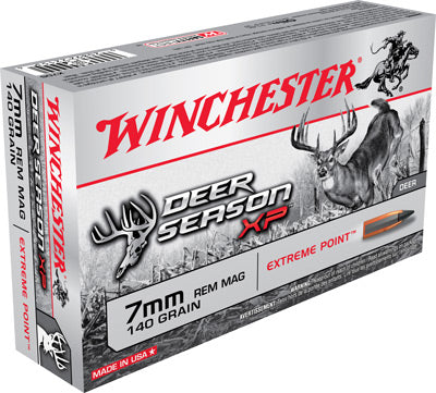 Winchester Ammo Deer Xp 7mm Rem Mag 140gr. Extreme Point 20 Pack