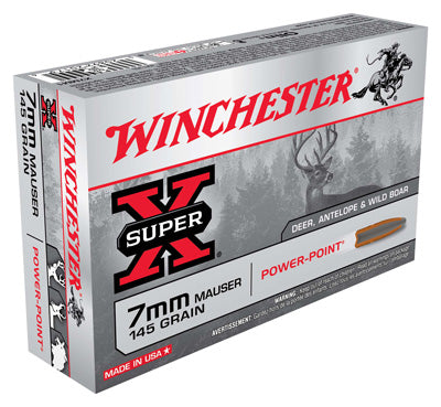 Winchester Ammo Super-X 7X57 Mauser 145gr. Power Point 20-Pack