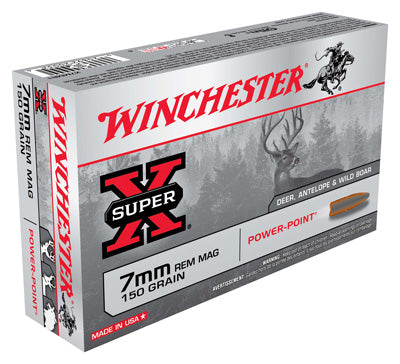 Winchester Ammo Super-X 7mm Rm 150gr. Power Point 20-Pack