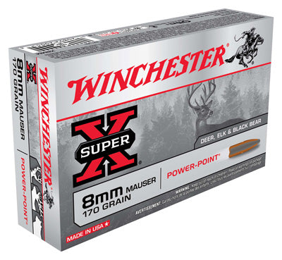 Winchester Ammo Super-X 8X57 Mauser 170gr. Power Point 20-Pack