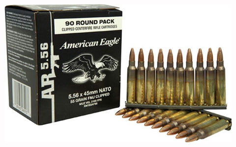Federal Ammo Ae 5.56 55gr. FMJ-Bt On Stripper Clips 450Rd Case