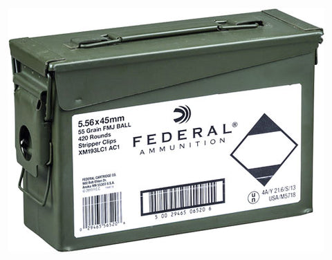 Federal Ammo Ae Tactical 5.56X45 55gr. FMJ 420Rd Ammo Can Clipd