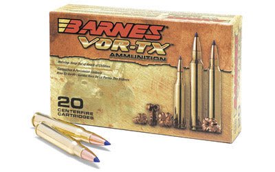 Barnes VOR-TX, 22-250, 50 Grain, Triple Shock X, Lead Free, 20 Round Box BB2225XFB1