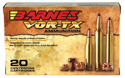 Barnes VOR-TX, 25-06 Rem, 100 Grain, Tipped Triple Shock X, Lead Free, 20 Round Box BB25062