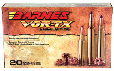 Barnes VOR-TX, 300WIN, 165 Grain, Tipped Triple Shock X, Boat Tail, Lead Free, 20 Round Box BB300WM2