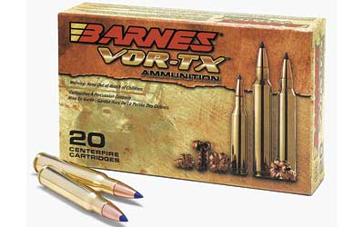 Barnes VOR-TX, 308WIN, 168 Grain, Tipped Triple Shock X, Boat Tail, Lead Free, 20 Round Box BB308W2