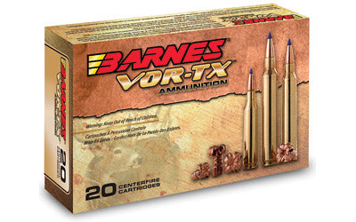 Barnes VOR-TX, 35 Whelen, 180 Grain, Tipped Triple Shock X, Lead Free, 20 Round Box BB35W180