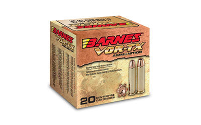 Barnes VOR-TX, 41 Mag, 180 Grain, XPB, Jacketed Hollow Point, Lead Free, 20 Round Box BB41MAG1