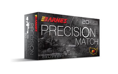 Barnes Precision Match, 556NATO, 69 Grain, Open Tip Match Boat Tail, 20 Round Box BB556M1
