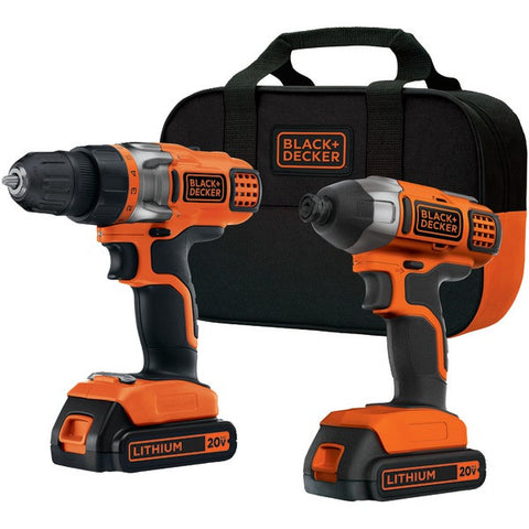 BLACK & DECKER BDCD220IA 20-Volt Drill/Impact Combo Kit