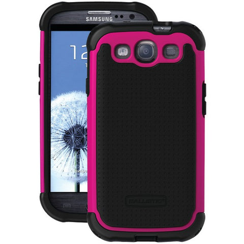 BALLISTIC TJ0930-A19C Samsung(R) Galaxy S(R) III Tough Jacket(TM) Case (Black/Black/Hot Pink)