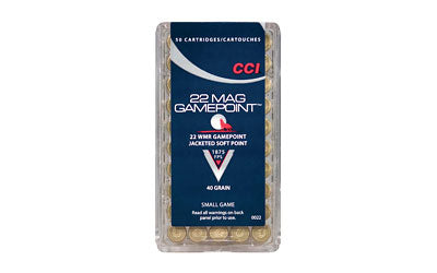 CCI/Speer 22WMR, 40 Grain, GamePoint, 50 Round Box 22
