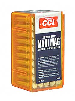 CCI/Speer Maxi-Mag, 22WMR, 40 Grain, Total Metal Jacket, 50 Round Box 23