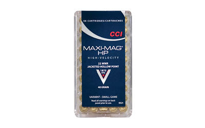 CCI/Speer Maxi-Mag, 22WMR, 40 Grain, Jacketed Hollow Point, 50 Round Box 24