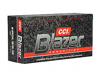CCI/Speer Blazer, 38 Special, 158 Grain, Lead Round Nose, 50 Round Box 3522