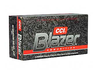 CCI/Speer Blazer, 44MAG, 240 Grain, Jacketed Hollow Point, 50 Round Box 3564