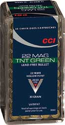 CCI/Speer TNT Green, 22WMR, 30 Grain, Jacketed Hollow Point, Lead Free, 50 Round Box 60