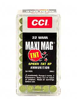 CCI/Speer TNT, 22WMR, 30 Grain, Jacketed Hollow Point, 50 Round Box 63