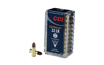 CCI/Speer Copper-22, 22LR, 21 Grain, Copper, Lead Free, 50 Round Box 925CC