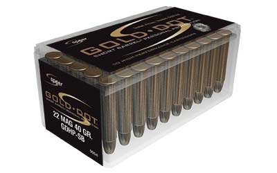 CCI/Speer Short Barrel, 22WMR, 40 Grain, Gold Dot Hollow Point, 50 Round Box 954
