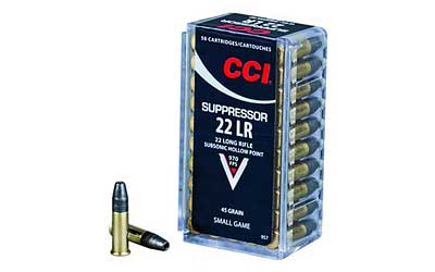 CCI/Speer Suppressor, 22LR, 45 Grain, Hollow Point, 50 Round Box 957