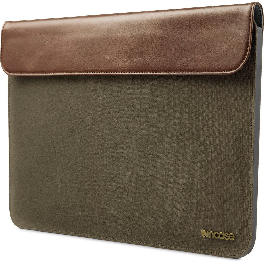 "Incase Canvas Pathway Slip Sleeve Laptop Case For 13"" MacBook Air - Olive"