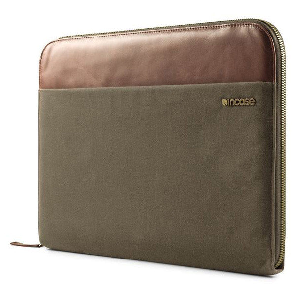 "Incase Canvas Pathway Folio Sleeve Laptop Case For 15"" MacBook Pro - Olive"