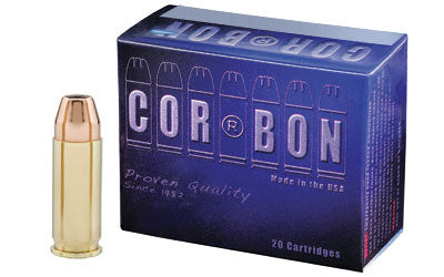 CorBon Self Defense, 38 Super, 115 Grain, Jacketed Hollow Point, +P, 20 Round Box 38X11520