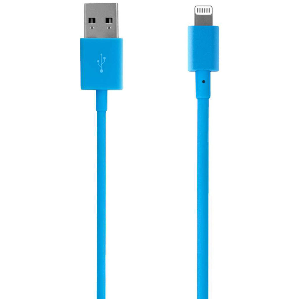 Incase Sync and Charge Cable 6 in. (iPhone 5, 5s, 6, & 6 Plus, iPad and iPod Compatible) Fluorescent Blue