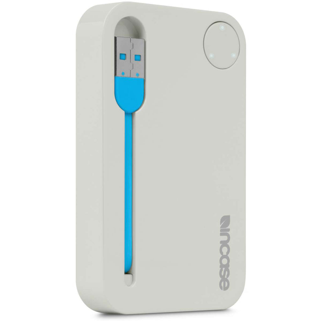Incase Universal Portable USB Power 2500 (Android, iPhone 5, 5s, 6, & 6 Plus, iPad and iPod Compatible) Grey/Fluro Blue