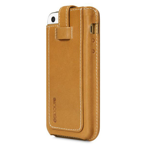 Incase Leather Fitted sleeve For iPhone 5s & 5c - Brown/Tan Phone Case