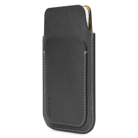 Incase Leather Pouch For iPhone 5s & 5c - Black/Tan Phone Case