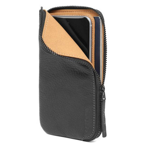 Incase iPhone 6 and 6 Plus Black Leather Zip Wallet Phone Case