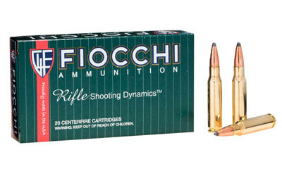 Fiocchi Ammunition Rifle, 308Win, 180 Grain, Pointed Soft Point, 20 Round Box 308C