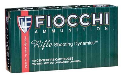 Fiocchi Ammunition Rifle, 308WIN, 165 Grain, InterLock Boat Tail Soft Point, 20 Round Box 308D