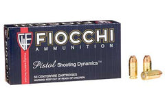 Fiocchi Ammunition Centerfire Pistol, 380ACP, 90 Grain, Jacketed Hollow Point, 50 Round Box 380APHP