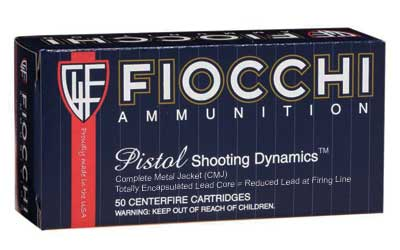 Fiocchi Ammunition Centerfire Pistol, 38 Special, 125 Grain, Copper Metal Jacket, 50 Round Box 38ACMJ
