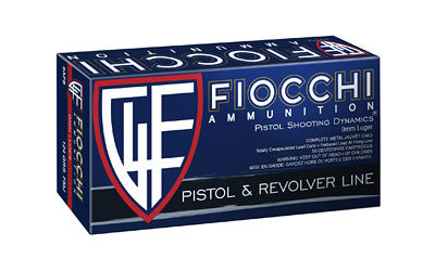 Fiocchi Ammunition Centerfire Pistol, 9MM, 124 Grain, Full Metal Jacket, 50 Round Box 9APB