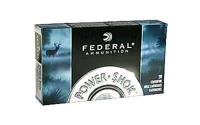 Federal PowerShok, 22-250, 55 Grain, Soft Point, 20 Round Box 22250A