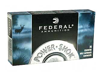 Federal PowerShok, 222REM, 50 Grain, Soft Point, 20 Round Box 222A