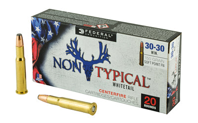 Federal Non Typical, 30-30, 150Gr, Soft Point, 20 Round Box 3030DT150