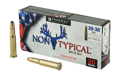 Federal Non Typical, 30-30, 170Gr, Soft Point, 20 Round Box 3030DT170